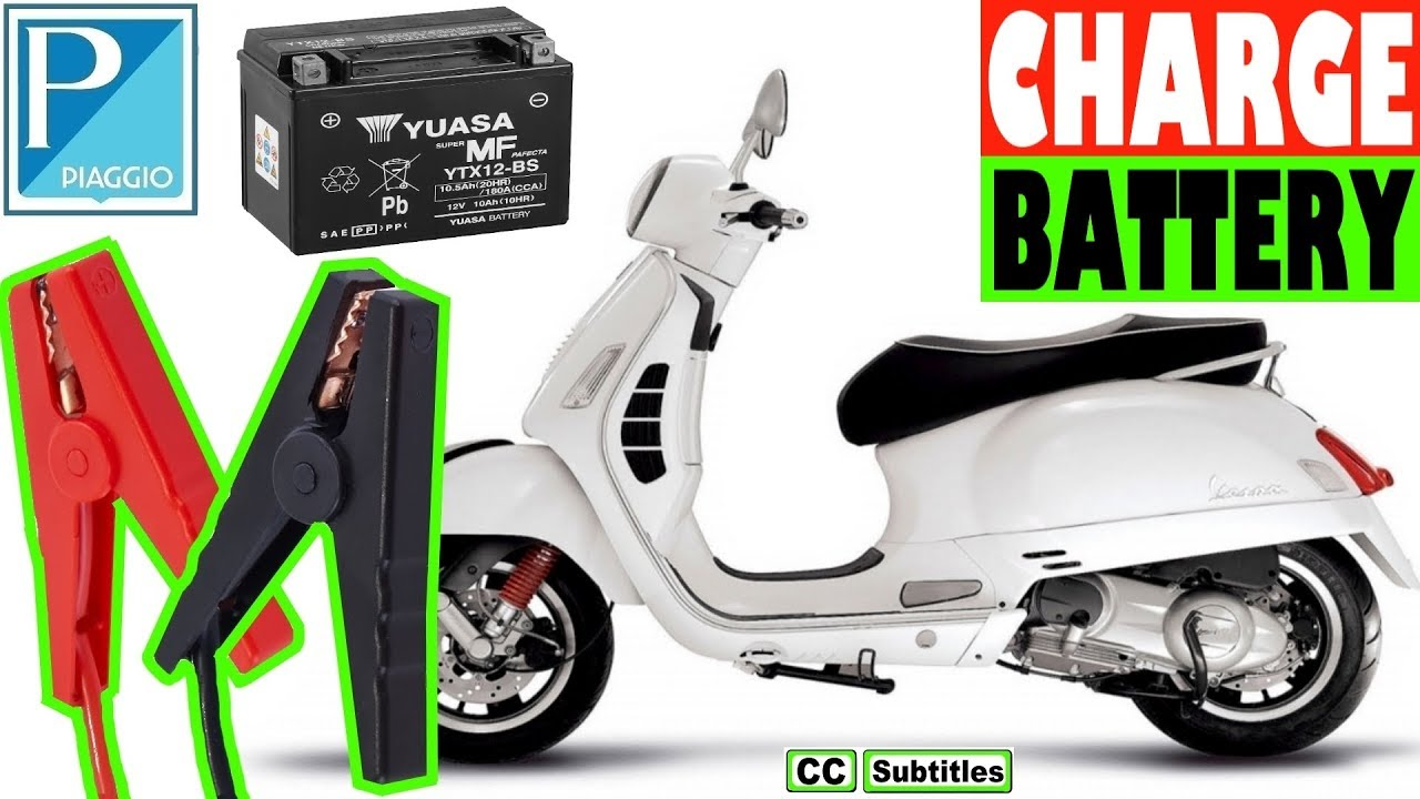How to charge Battery on a Vespa GTS
