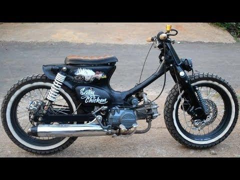 Modifikasi Honda grand dicangkok yamaha mio || Street cub By Lintar A K Garage Pati