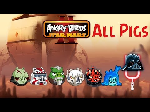 All Pigs In Angry Birds Star Wars 2 Gameplay