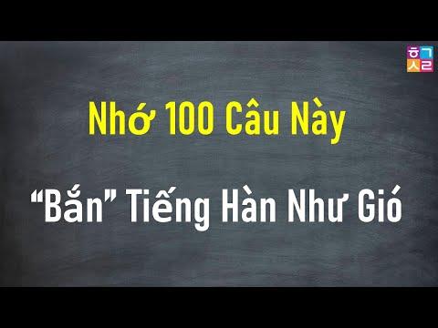 [Tập 1] 100 Câu Tiếng Hàn Giao Tiếp Căn Bản - Cực Thông Dụng.