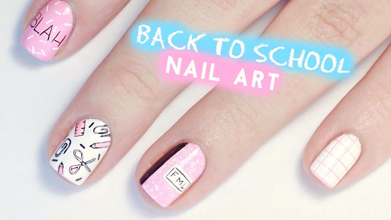 Back To School Nail Art Tumblr Inspired Youtube