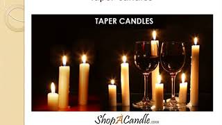 Shop Smokeless And Dripless Taper Candles At Shopacandle