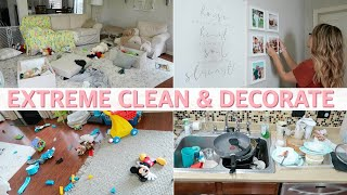 CLEAN & DECORATE WITH ME | EXTREME CLEANING MOTIVATION 2019 | Lauren Midgley