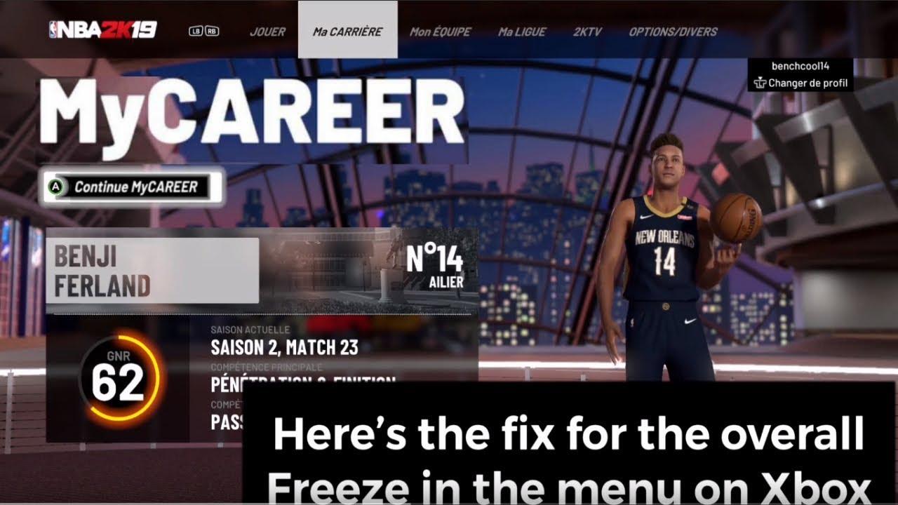 HOW TO FIX FROZEN OVR ON NBA 2K19 MAIN MENU ! (XBOX)(2019)