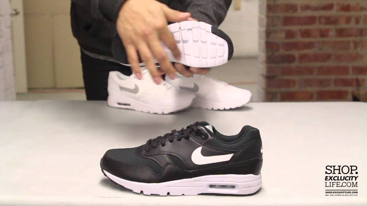 Women s Air Max 1 Ultra Essential Black - White Unboxing Video at Exlcucity 881cd4b0d6