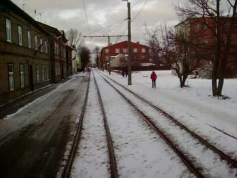 Liepaja city by tram. Latvia. Pa Liepāju ar tramvaju.