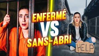 VIVRE ENFERMÉ VS VIVRE DANS LA RUE - 24H CHALLENGE | DENYZEE