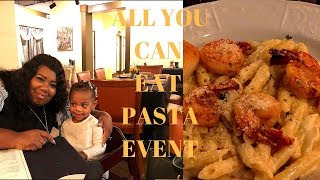 VLOGTOBER DAY 18 // ALL YOU CAN EAT PASTA