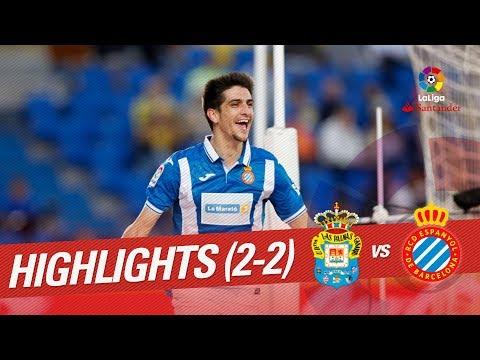 Resumen de UD Las Palmas vs RCD Espanyol (2-2)