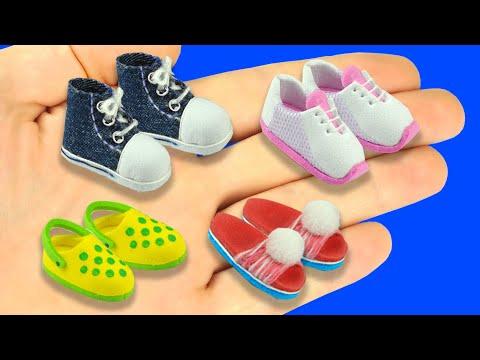 DIY Miniature Barbie Shoes