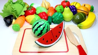 Learn Fruits u0026 Vegetables for Kids Velcro Food Cutting Fruit Names Toys Play u0026 Learn Preschoolers