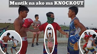 Lite Sparring with Boy Tapang | Muntik na ako ma KNOCKOUT