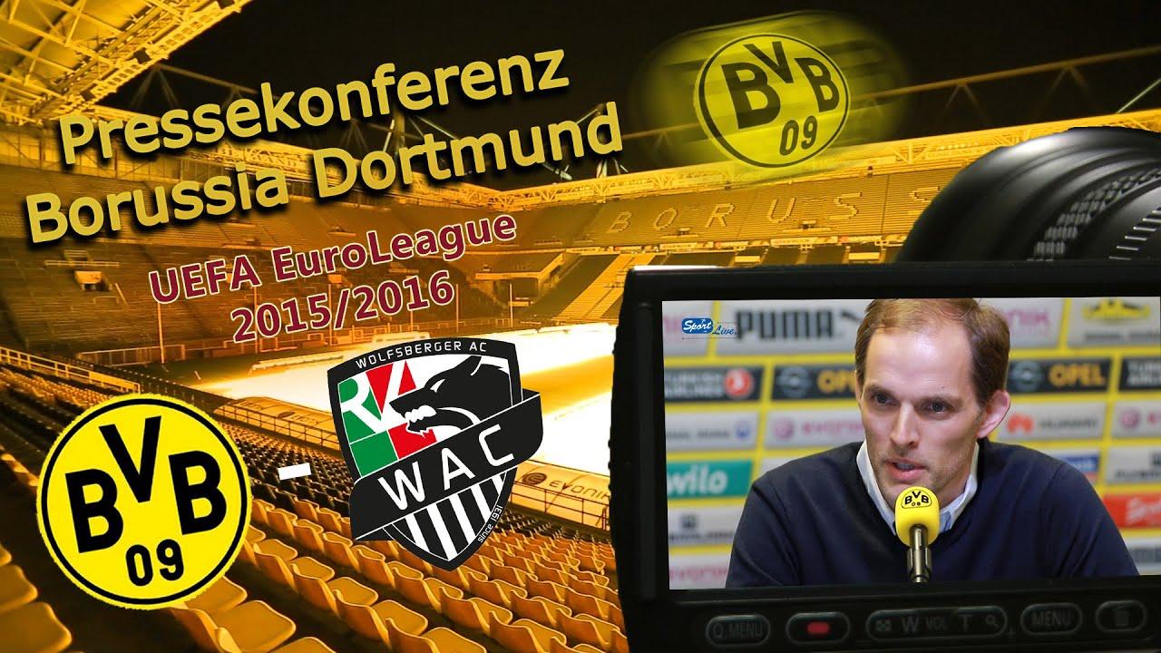 Borussia Dortmund - Wolfsberger AC: Pk nach dem Rückspiel in Dortmund