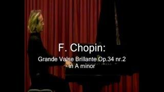 Antonio Consales plays Chopin - Valse Op.34 Nr.2 in A minor - U.S. tour