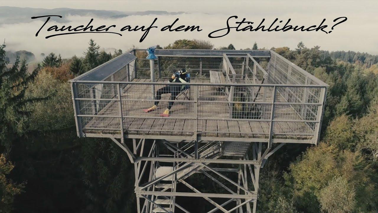 Was macht ein Taucher auf dem Stählibuck Turm?