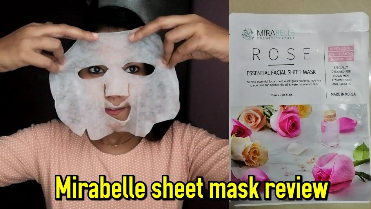 Merabelle korea Rose sheetmask review|Rosie Mishra