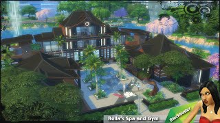 The Sims 4: House Building - Bella's Spa And Gym (block Party Challenge #2)