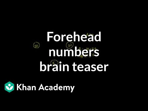 Forehead numbers brain teaser | Puzzles | Math for fun and glory | Khan Academy