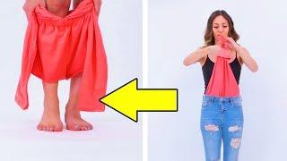 (как вариант) Не выбрасываем старую блузку! Интересное решение DIY