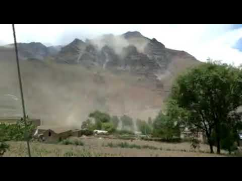 El sismo en Salta provocó desmoronamientos de cerros en Jujuy
