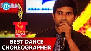 SIIMA 2014 Best Dance Choreographer Johnny for Laila O Laila - Nayak