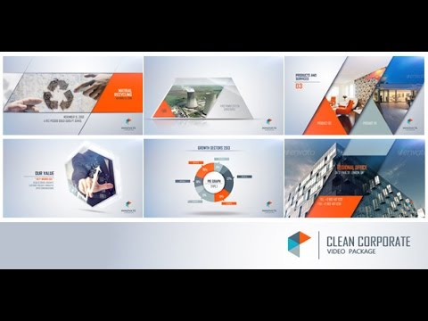 clean corporate (after effects template) - youtube, Powerpoint templates