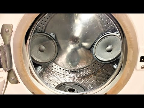 Experiment - Loudspeaker - in a Washing Machine