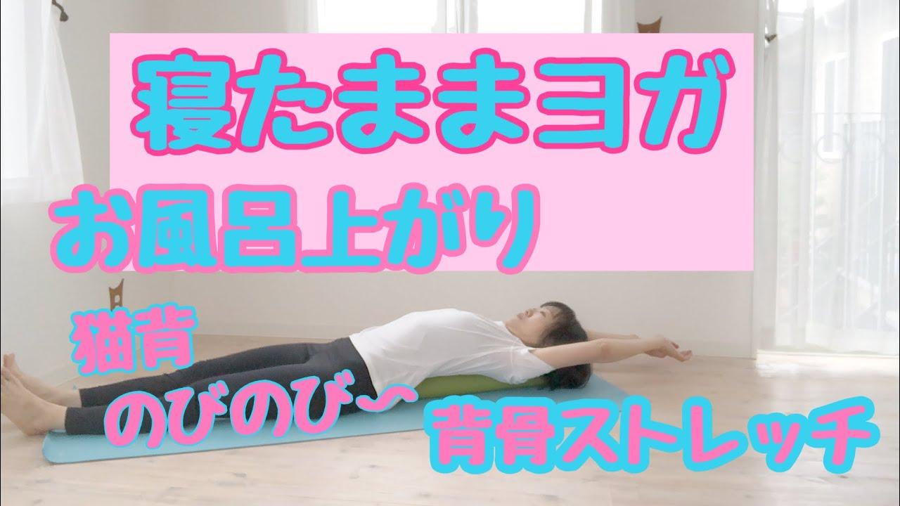 【お風呂上り】寝たままヨガ背骨のストレッチ、姿勢をリセット(初心者向け)