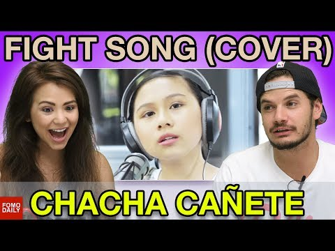 """Chacha Cañete """"Fight Song"""" Cover • Fomo Daily Reacts"""