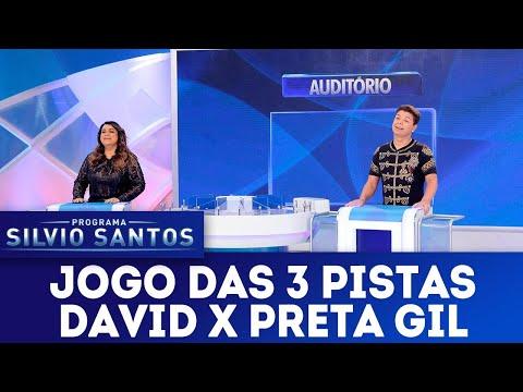 Jogo das 3 pistas com David Brazil x Preta Gil | Programa Silvio Santos (08/07/18)