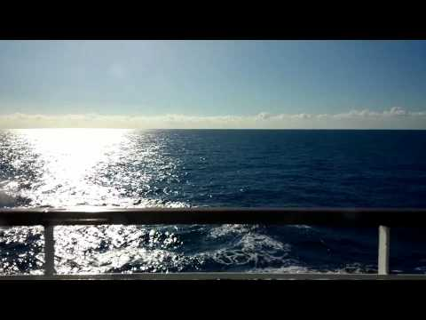 Relaxing sea from cruise - 2 HOURS - with music - HD - Chromecast screensaver