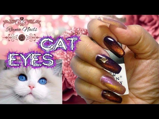 ♥Gel ojo de gato born pretty/Cat eyes nails/By Reyna Nails♥