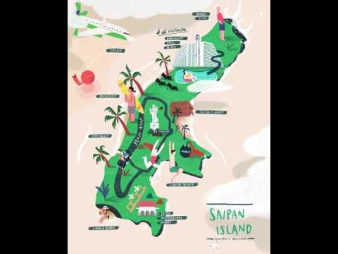 Saipan Island Map