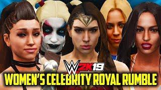 WWE 2K19 - 30 WOMAN CELEBRITY ROYAL RUMBLE!!