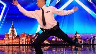 Dancing  PLASTIC  Police Man   HAVING LOT OF FUN!