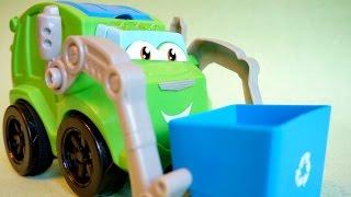 Мультики про машинки. Рабочие машины: Мусоровоз. Уборка территории. Цвета для детей 자동차 만화(, 2015-07-28T04:35:12.000Z)