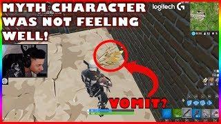 MYTHE CHARACTER VOMITING GLITCH?!?! - Fortnite met en évidence #172