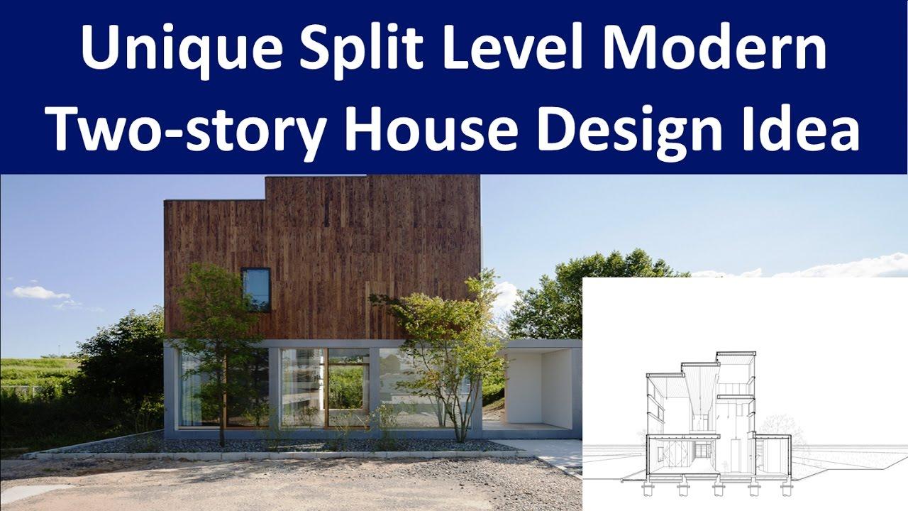 unique split level modern two story house design idea youtube