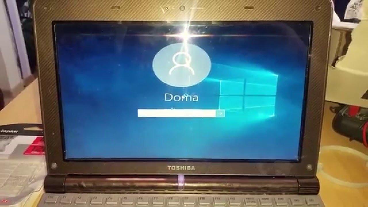System Windows 10 Toshiba NB200 - YouTube
