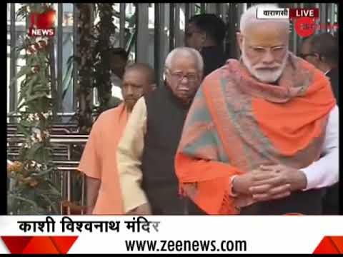 PM Narendra Modi visits Kashi Vishwanath temple in Varanasi