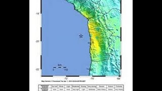 8.2  EARTHQUAKE,CHILE,6 Dead              PACIFIC TSUNAMI WARNING