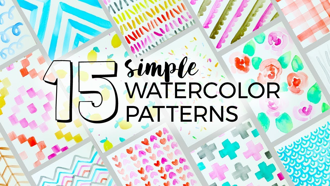 15 Simple Watercolor Patterns To Paint