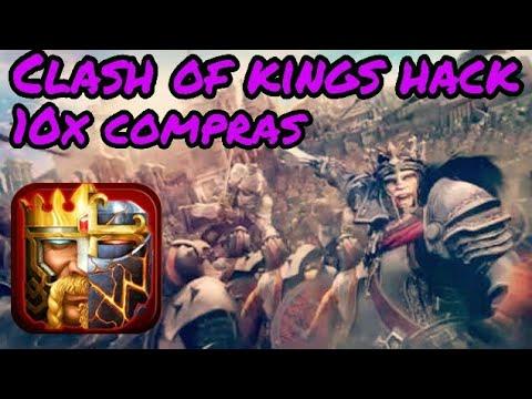 CLASH OF KINGS - HACK APK ( GANHA TUDO EM 10X )
