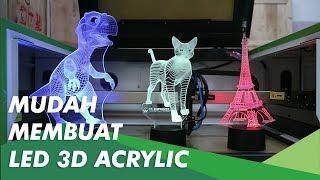 Demo Cara Membuat 3D Led Acrylic dengan Mesin Laser Yueming 6040