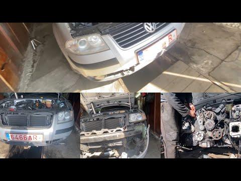 КАК снять передний бампер + телевизор с радиаторами VW Passat B5+. СЕРВИСНОЕ ПОЛОЖЕНИЕ