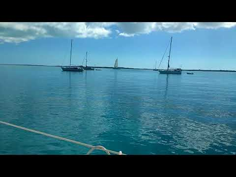 Anchored off Chat'n Chill Beach, Stocking Island, Exumas, Bahamas