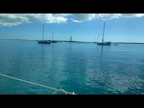Anchored Off Chat'n Chill Beach, Stocking Island, Exumas, Bahamas