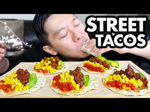 Mexican STREET TACOS Mukbang + Storytime (How To Be Cheap) | Mexican Food Eating Show | MerrickEats