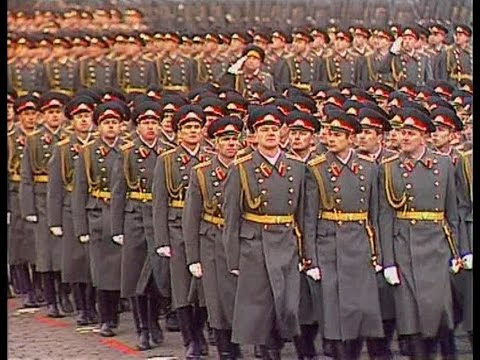 HD Soviet October Revolution Parade, 1986 Part I Парад 7 Ноября