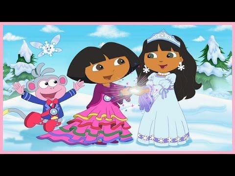 Dora the explorer 3d saves the snow princess full english kids game youtube - Princesse dora ...
